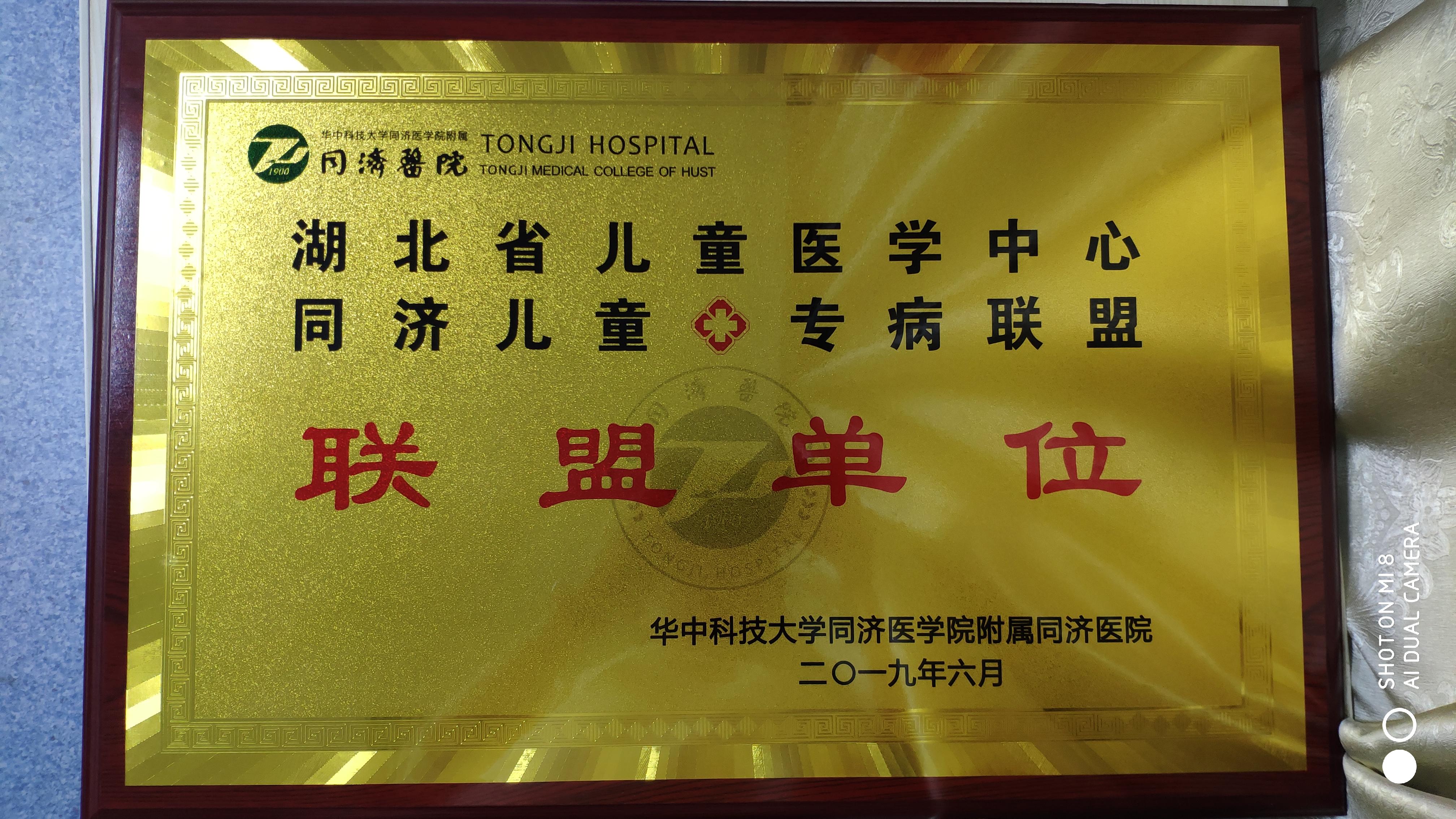 我院加入华中科技大学同济医学院附属同济医院同济儿童专病联盟